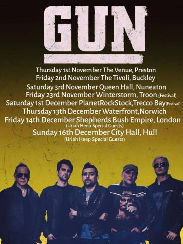 Gun 2018 UK tour