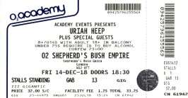Uriah Heep [14 Dec 2018] Shepherds Bush Empire