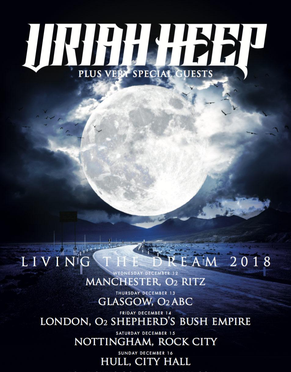 Uriah Heep - Living the Dream UK dates 2018