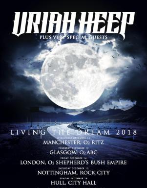 Uriah Heep - Living the Dream UK dates 2018