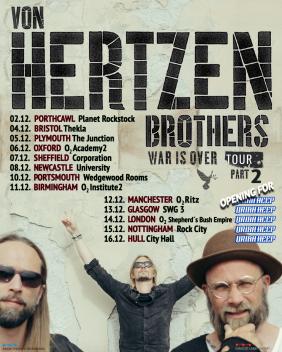 Von Hertzen Brothers 2018 UK Tour