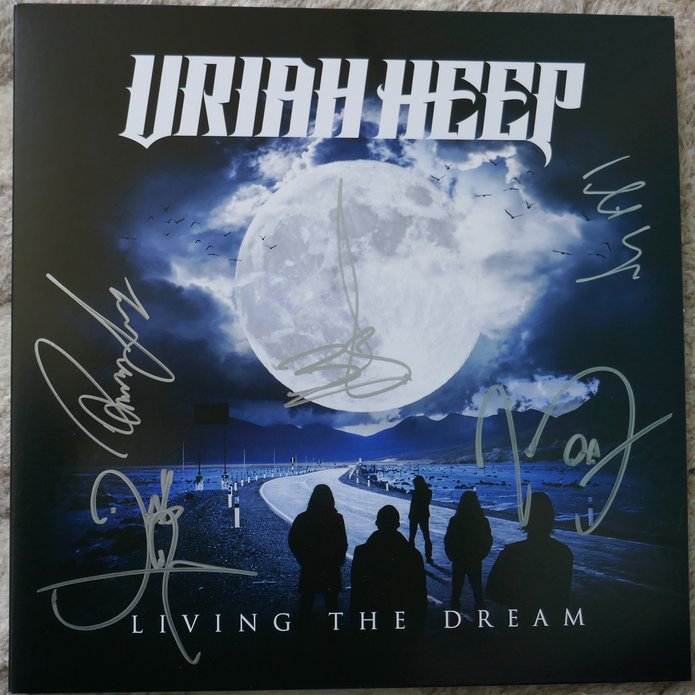uriah heep - living the dream - signed lp