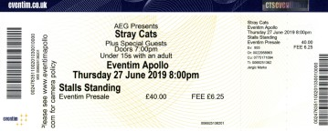 The Stray Cats [27 June 2019] Hammersmith Apollo